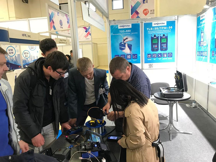 Demonstration of orientek Test products at Russian Exhibitio